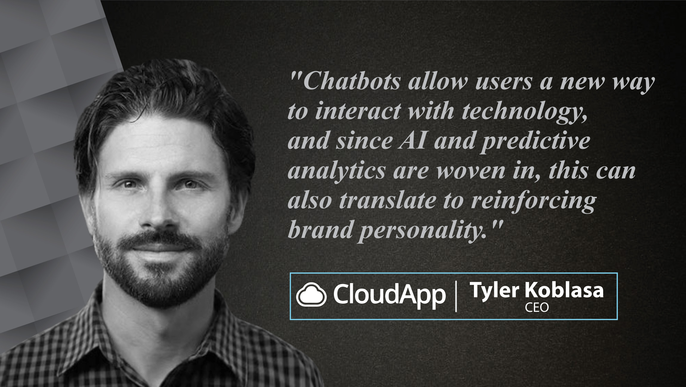 Interview with Tyler Koblasa, CEO at CloudApp_cue card