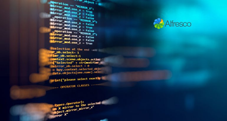 Alfresco Adds Major Extensibility Features To Its Open Source, Process-Led, Low Code Application Development Framework