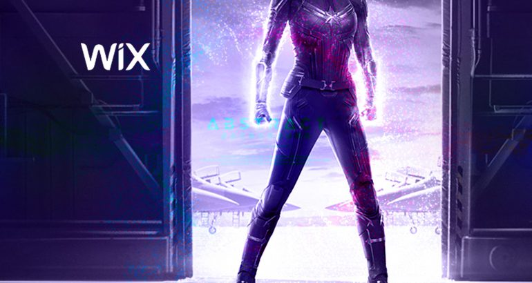 """Wix.Com Teams up with Marvel Studios' """"Captain Marvel"""" for the Launch of Wix Turbo"""