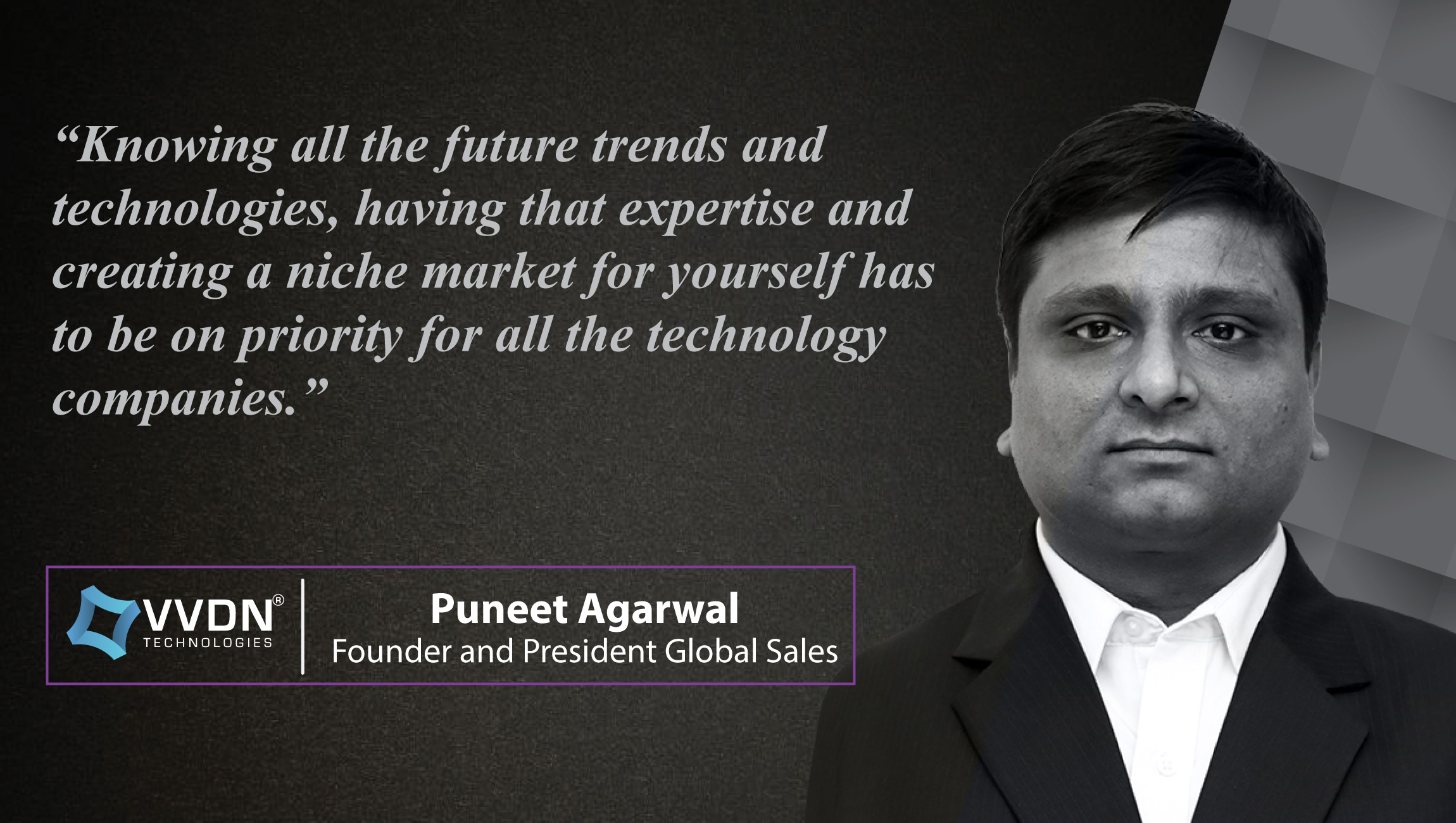 AiThority Interview Series with Puneet Agarwal, Founder and President at VVDN Technologies_cue card